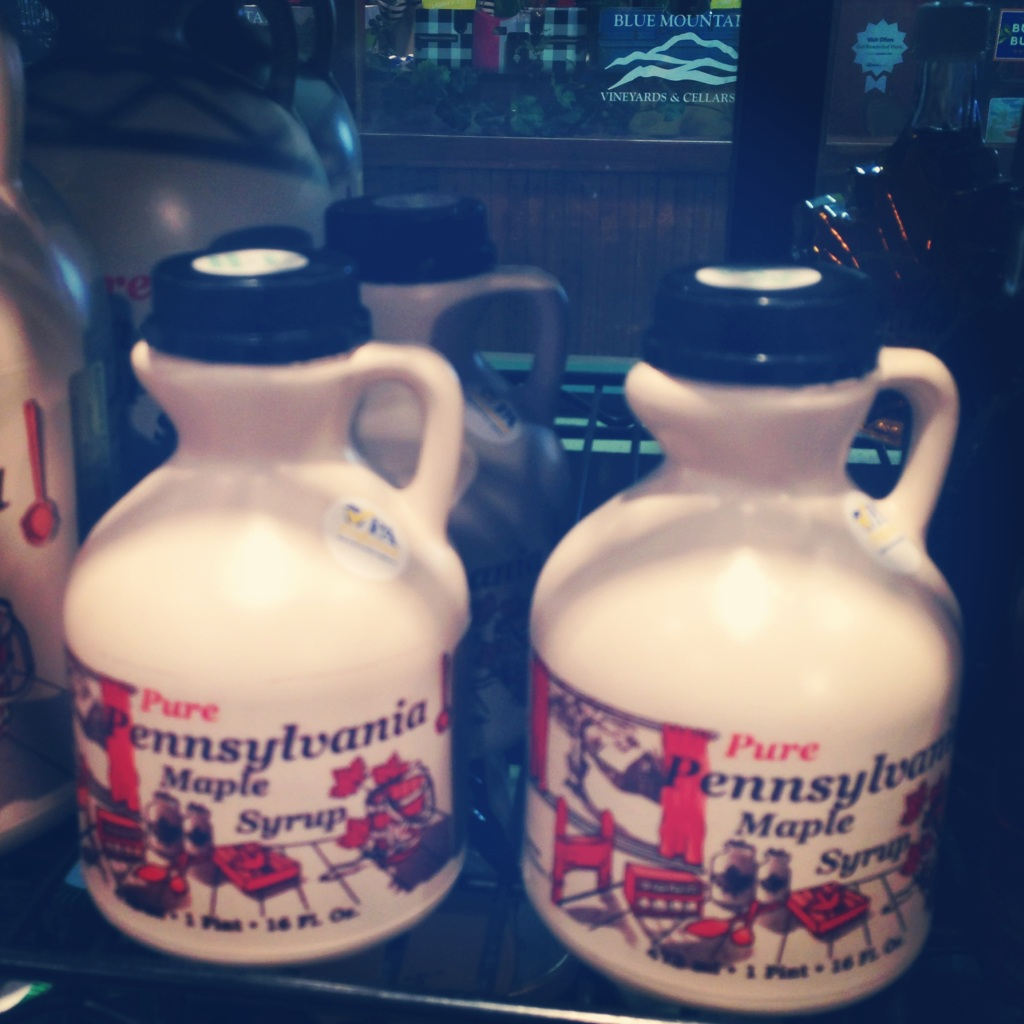 Cute jars of maple syrup